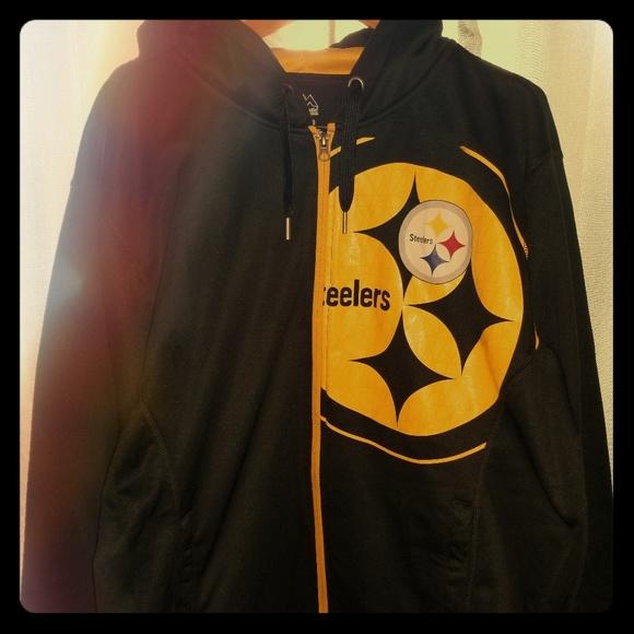 super popular 00cf5 1bdbd NWOT Steelers zip up hoodie